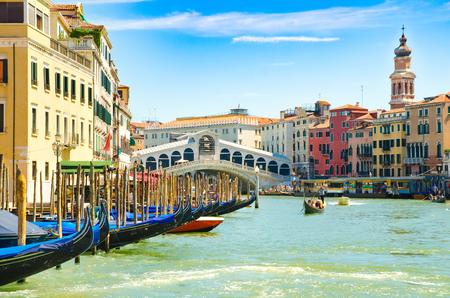 Grand Canal in Venice with Rialto Bridge