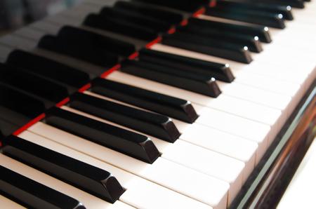 an old grand piano keys