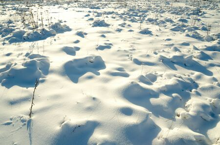 abstract background of snow field