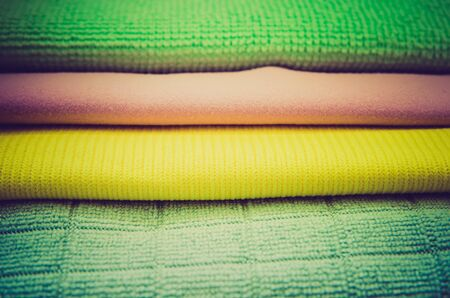 stacked towels as a background Imagens