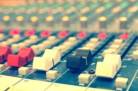 music mixer in a sound recording studio