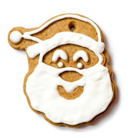 christmas cookie isolated on a white background Imagens