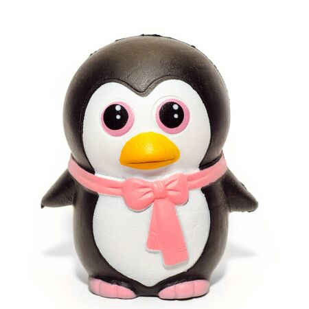penguin toy isolated on the white background