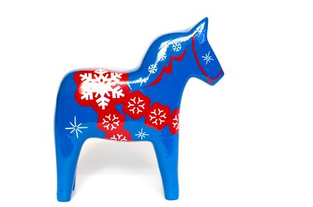 christmas horse isolated on a white background