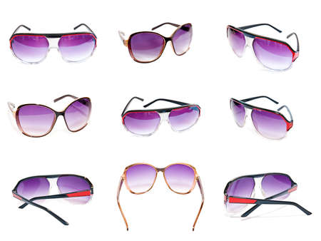 sunglasses collection isolated on a white background
