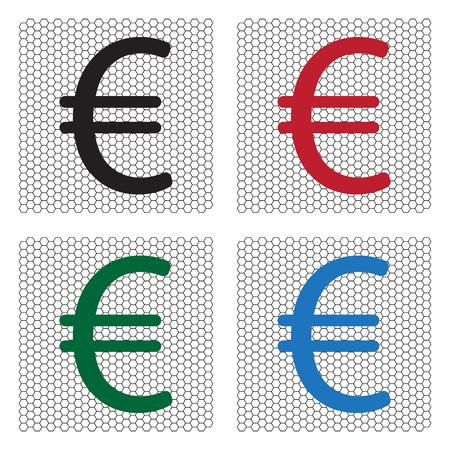 smacker: Euro flat icon. Vector illustration.