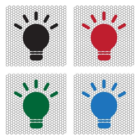 light sign ideas, web icon. vector design