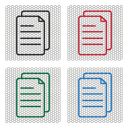 writing pad: line note paper icons