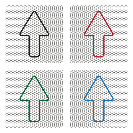 split up: arrow up line icon isolated Illustration