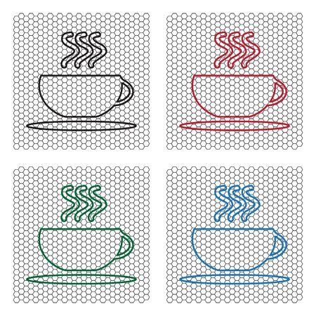 Coffee cup line icon Иллюстрация