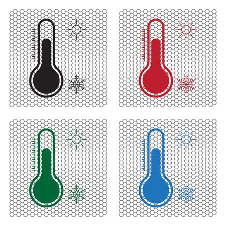 Thermometer icon , vector illustration Illustration