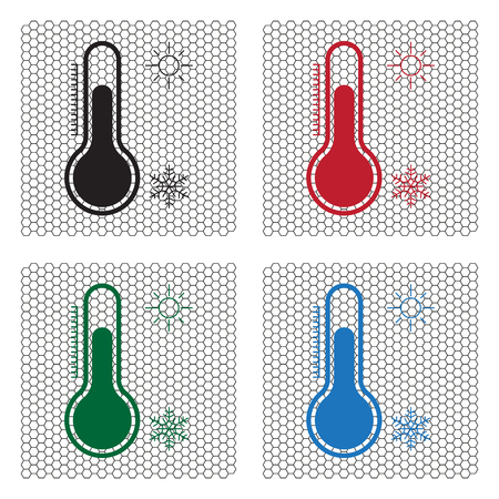clime: Thermometer icon , vector illustration Illustration