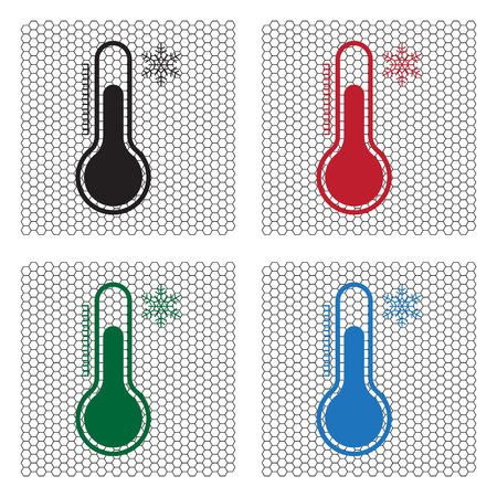 Thermometer icon , vector illustration Illustration