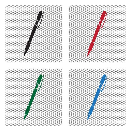 ballpen: Vector ballpoint pen icon