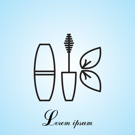 mascara brush icon Illustration