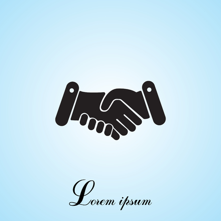 handclasp: Handshake icon Illustration