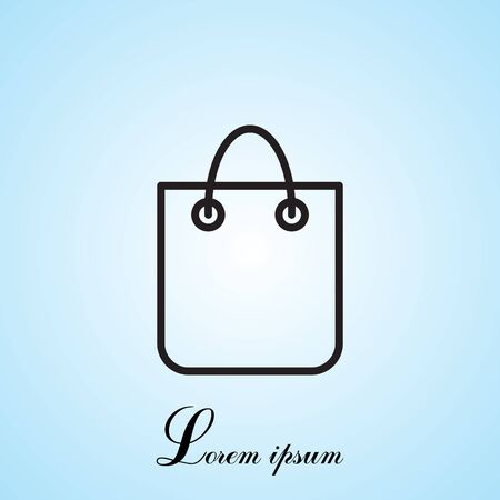 bagful: shopping bag - vector line icon Illustration