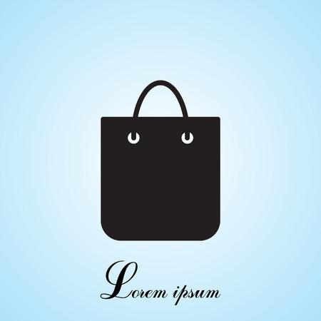 bagful: shopping bag - vector icon