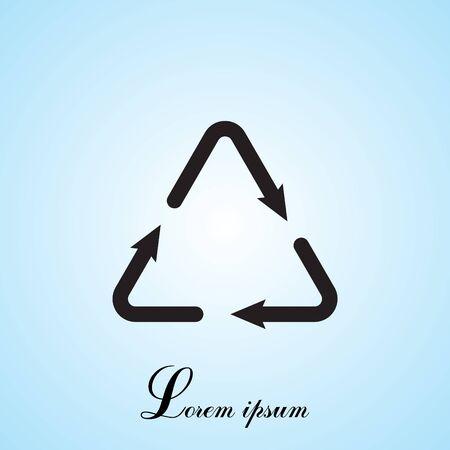 sign waste processing, web icon. Illustration