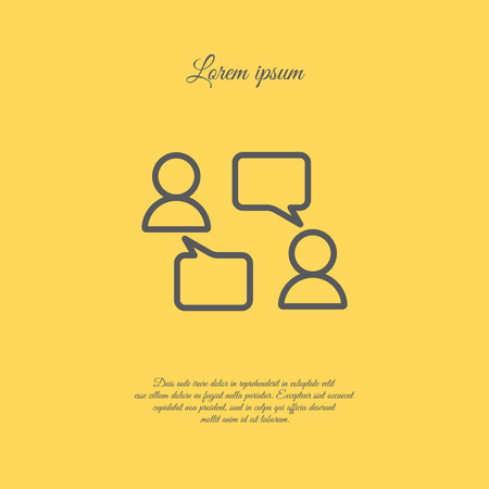 controversy: Web line icon. Business; Negotiations, dialog Illustration