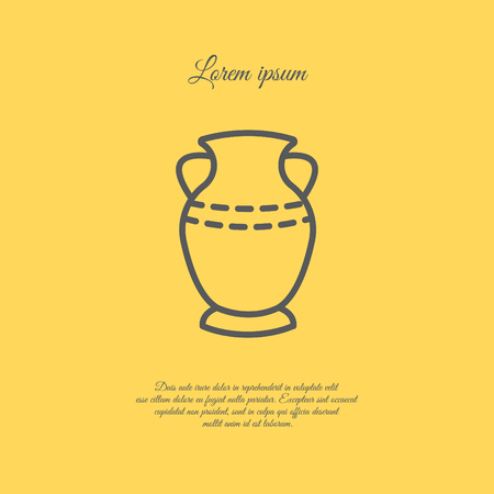 Web line icon. Vase. Illustration