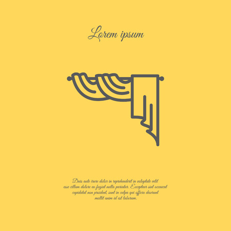 concerto: Web line icon. Window curtain