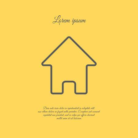 main: Web line icon. Home