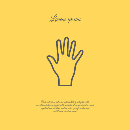 Web line icon. Hand, bunch of fives 向量圖像