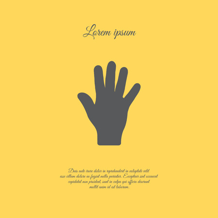 Web icon. Hand, bunch of fives 向量圖像