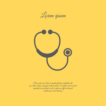 Web icon. Stethoscope