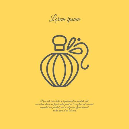 Web line icon. Perfume Illustration