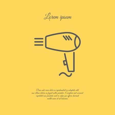 hairdryer: Web line icon. Hairdryer Illustration