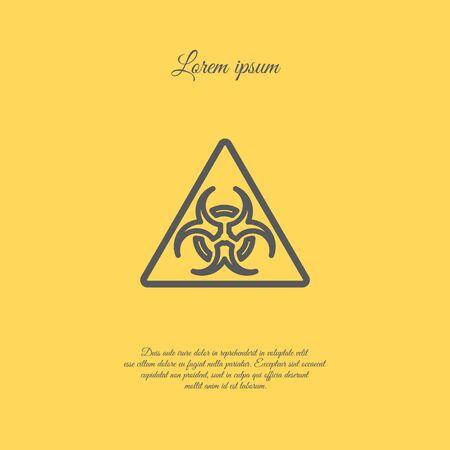 cray: Web line icon. Radiation hazard Illustration