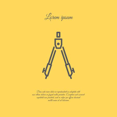 distance: Web line icon. Circinus