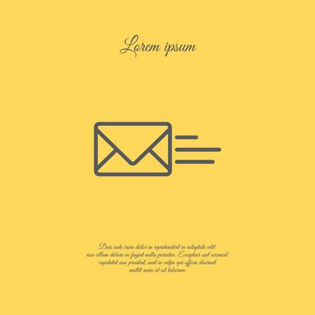 global communication: Web line icon. Sending a message