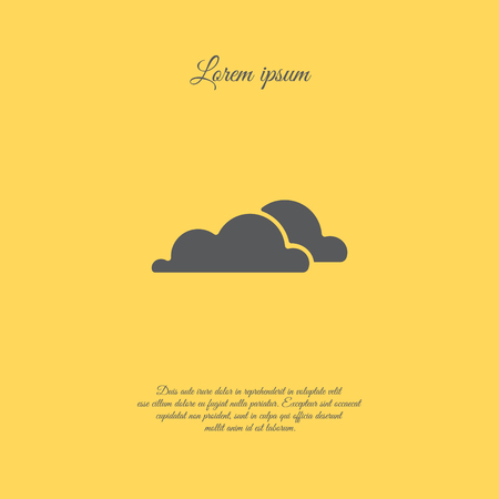 art processing: Web icon. Clouds