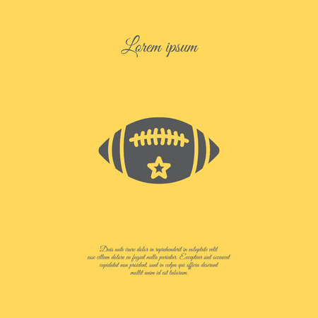 Web icon. American football Illustration