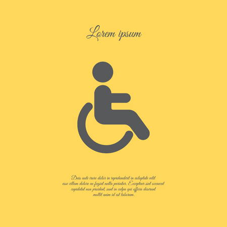 Web icon. Disabled Illustration