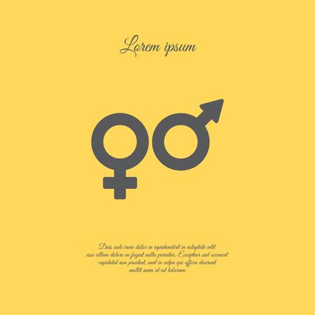 Web line icon. Gender symbol, Symbols of men and women Illustration