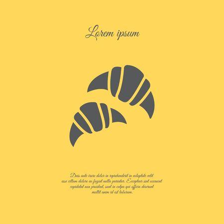 Web line icon. Croissants