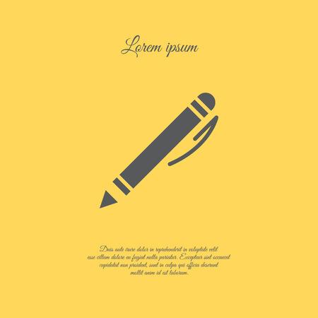 Web line icon. Pen