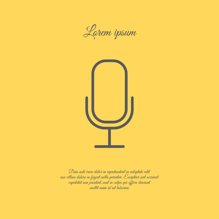 Web icon. Microphone, voice search