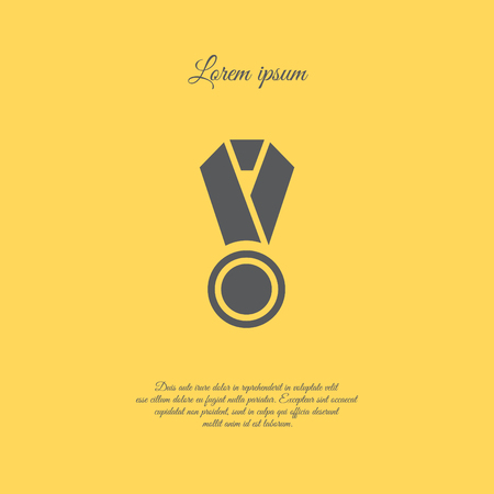 Web icon. Medal Illustration