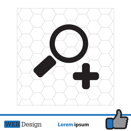 Simple web icon vector zoom Illustration