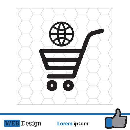 shopping cart (basket) icon Illustration