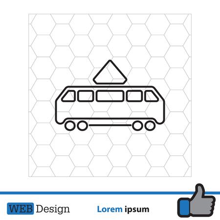 Icono de tranvía