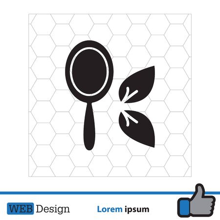 plated: Hand Mirror line icon