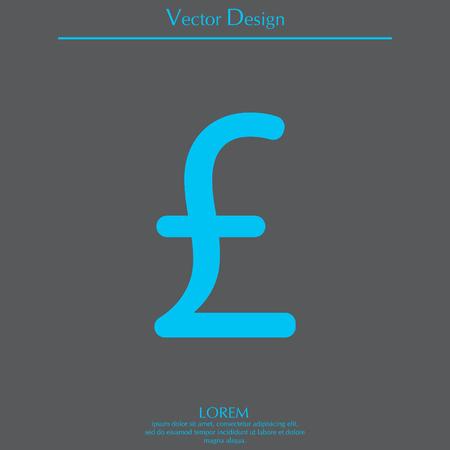 lb: sterling sign, vector design for website