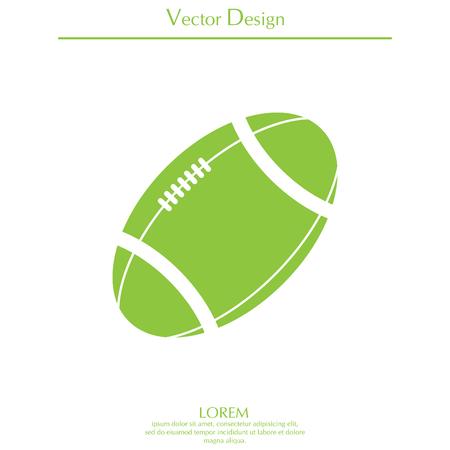 Icono de vector de balón de fútbol americano.