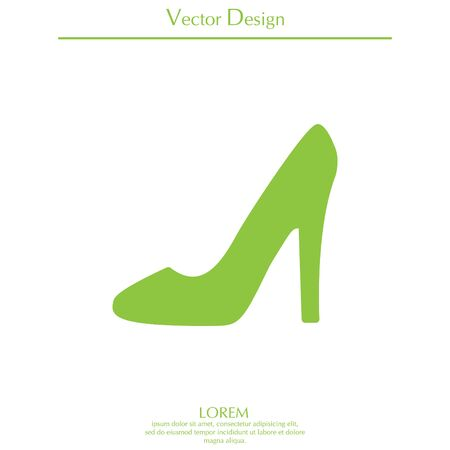 heel shoes - vector icon Illustration